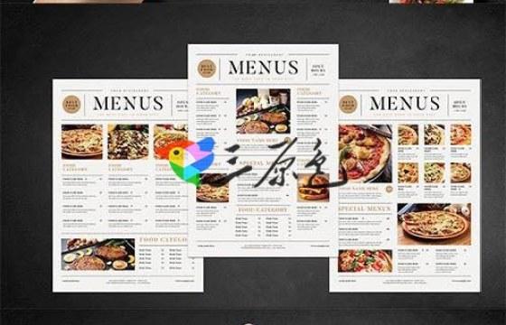 PSD模板 酒店饭店菜单产品介绍页模板