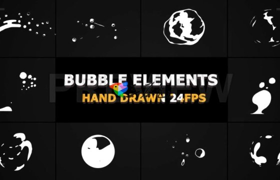 10个MG透明气泡视频动画素材(Mov)