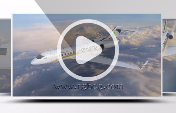 Ae模板飞机直冲云霄修改文字图片logo企业渲染支持模板代做修改