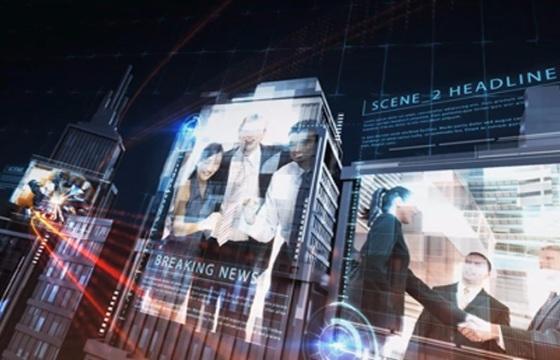 科技感城市宣传展示动画AE模板