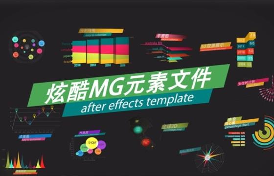 炫酷MG动画元素展示AE文件包