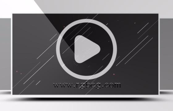 Logo演绎MG动画线条片头素材ae模板