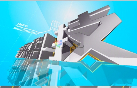 AE模板:大气磅礴智慧中国金属质感文字包装E3D文字片头