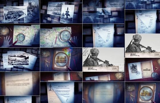 AE模: 板大气怀旧感,军事、历史、纪录等栏目的包装模板