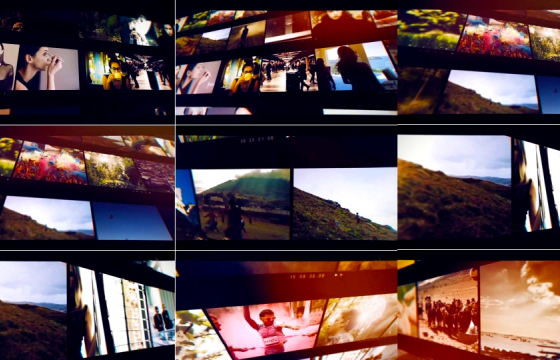 Ae模板:不同摄像机角度下的视频墙展示Video Frame Slideshow