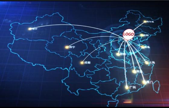 Ae模板:地图辐射点终极炫酷地球变焦缩放工具包定位地球任何地点