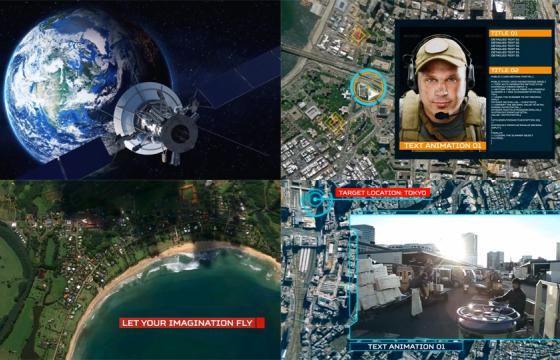 AE模板:炫酷俯冲地球变焦缩放工具包 定位地球任何地点Ultimate
