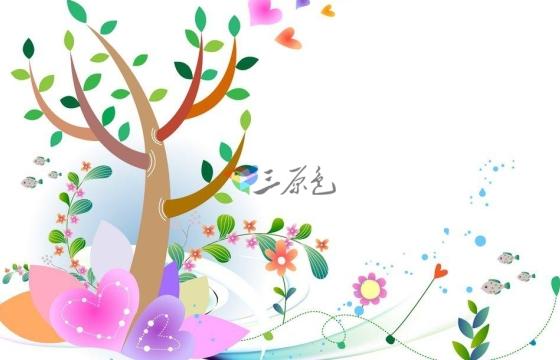 婚庆 等节日喜庆温馨场景素材卡通花草生长动画高清视频素材 Mov