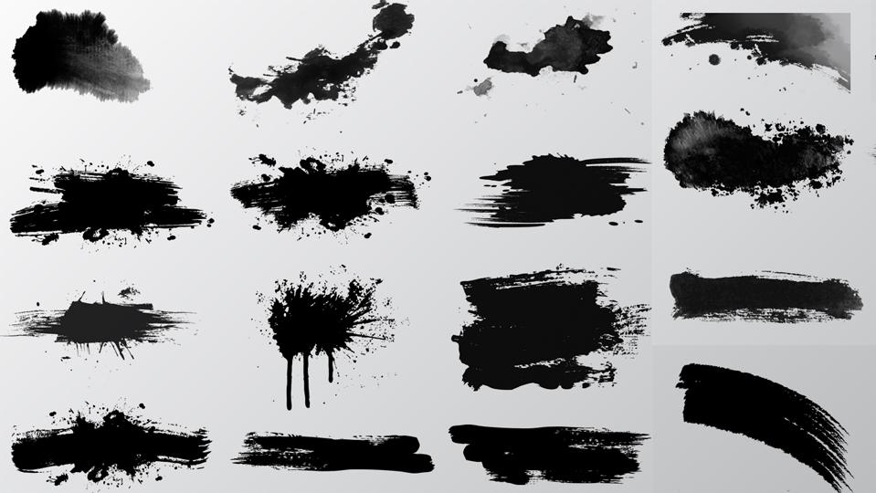 水墨笔触免费PS素材下载PSD素材 平面素材-第1张