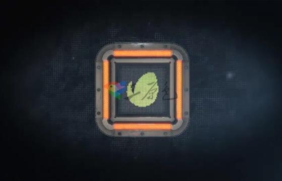 AE模板 科技感方块变换logo展示 Square Tech Logo