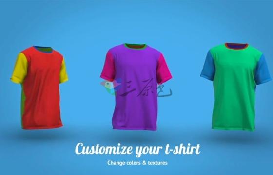 Ae模板:颇具创意的T-shirt行走动画素材T-Shirt Walk