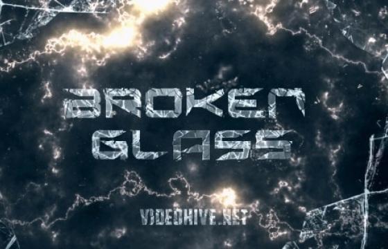 AE模板 史诗级宣传电影预告片碎玻璃片 Broken Glass Trailer