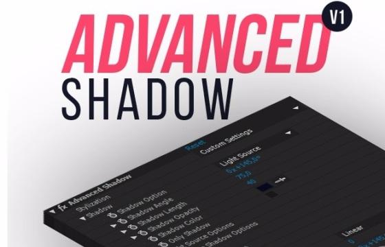 AE预设 高级版文字字体长阴影预设插件