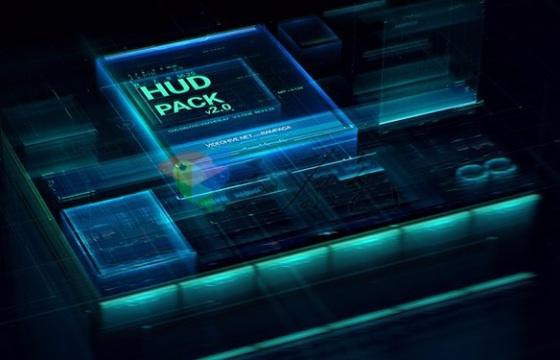 AE模板 600个高科技 科幻 虚拟元素工具包 HUD Pack v2.0