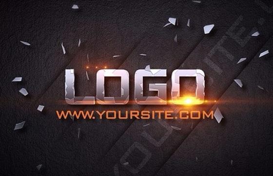 AE模板 字幕文字Logo飞入破碎光效 Impact Titles