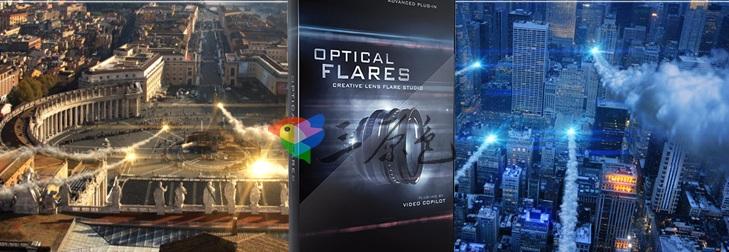 AE插件 光效光晕效果插件Optical Flares v1.3.5中文汉化一键版