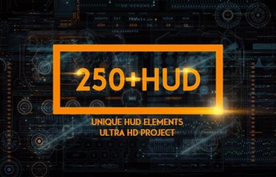 135个HUD科技 机械元素 高清视频素材 Mov