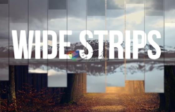 Pr模板 条状玻璃效果视频切换转场过渡 24 Strip Transitions