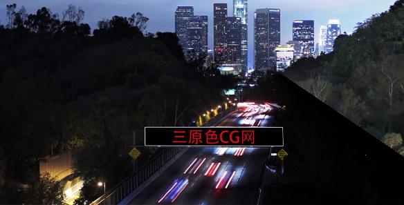 Ae模板: 美国夜景大楼相片换图520表白我爱你视频 Ae 模板-第1张