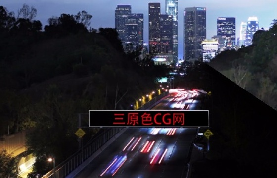 Ae模板: 美国夜景大楼相片换图520表白我爱你视频