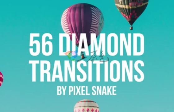 Pr模板 图片菱形切割转场过渡效果 56 Diamond Offset Transitions
