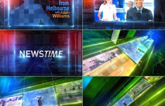 Ae模板:科技炫酷的广播电视新闻体育栏目合辑包地图选旋转直播体育CCTV