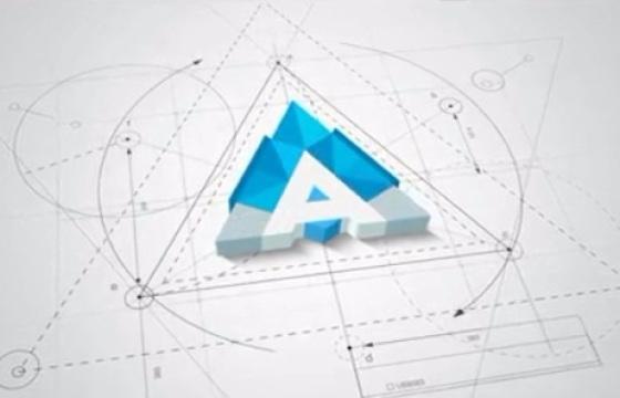 Ae模板 几何体集合Logo演绎简洁