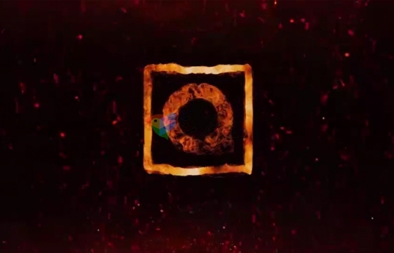 Ae模板 火焰汇聚钢铁游戏Logo展示AE模板Flame Logo