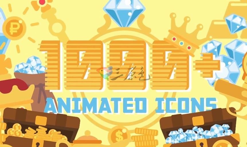 AE模板/素材 1000多个卡通元素平面图标动画工具包 Flat Animated Ae 模板-第1张