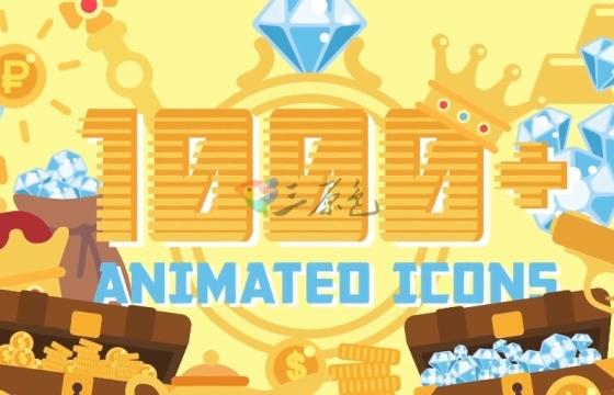AE模板/素材 1000多个卡通元素平面图标动画工具包 Flat Animated