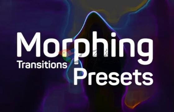 Pr预设模板 视频图片水彩画变形过渡预设  Morphing Transitions