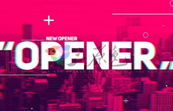 AE模板 视频相册幻灯片文字标题快闪风格效果 Opener