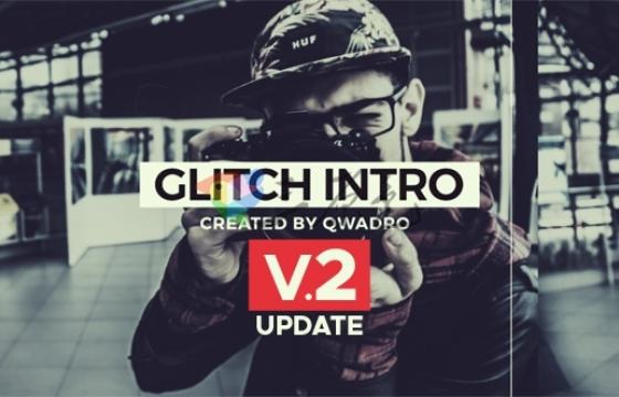 AE模板 现代快节奏相册杂志 动态幻灯片Modern Glitch Intro v2