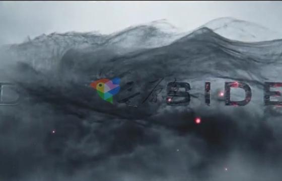 AE模板 史诗级黑暗骷髅三维文字标题电影宣传预告片 Dark Side