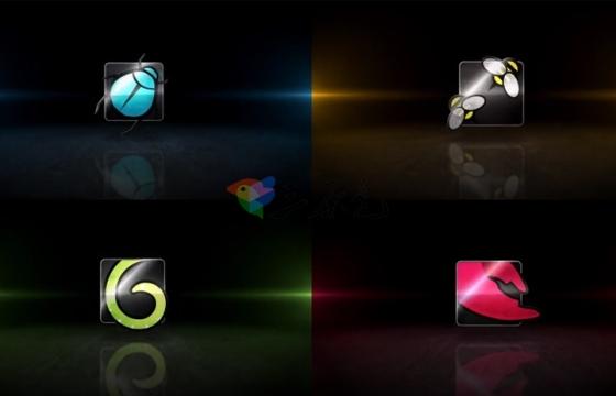 Ae模板 三维金属质感电影预告片头logo展示Transforming Logo Reveal-