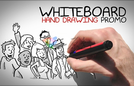 AE模板 白板手绘业务促销广告Whiteboard Hand Drawing Promo-