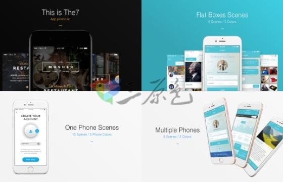 Ae模板 苹果手机APP展示动画介绍App Presentation Kit-