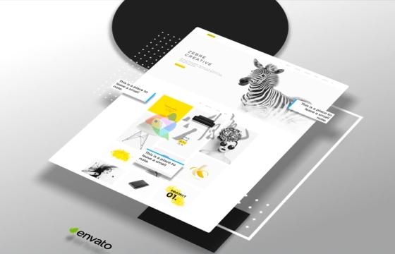 Ae模板 扁平化网站展示宣传Flat Website Presentation