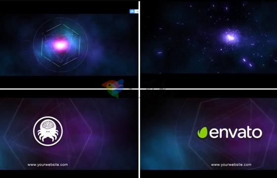 Ae模板 炫酷粒子宇宙银河星系时空穿梭能量Logo展示The Universe Within