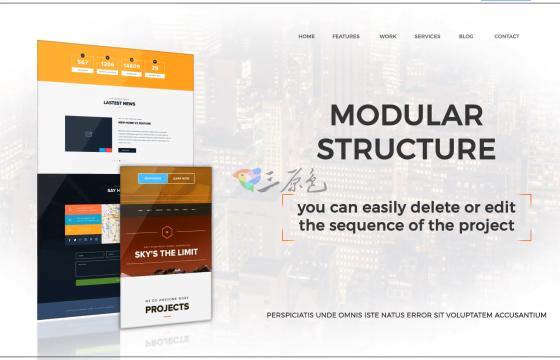 Ae模板 简洁网站展示宣传Minimal Website Promo