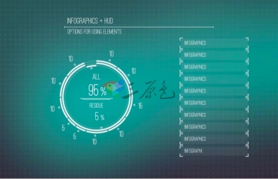 Ae模板 高科技数据信息图HUD对话框展示Infographics + HUD-