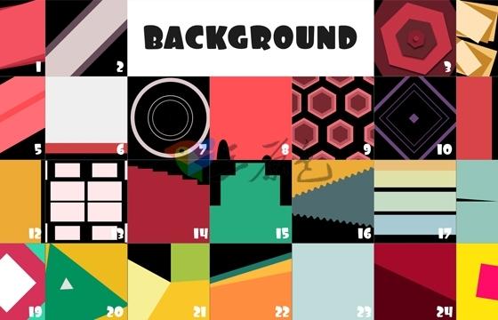 AE模板 E3D卡通背景转场 线条图形运动 Logo片头 E3D Animation