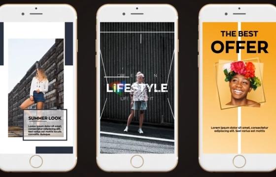 AE模板 朋友圈 短视频 创意促销广告 宣传包装 Stylish Instagram