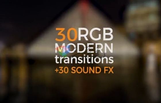 Pr模板+音效 无缝转场过渡效果+配套音效 Modern Transitions