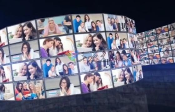 AE模板 企业产品视频图片三维视频墙展示 3D Video Wall