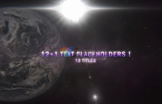 AE模板 视频电影星球文字标题预告片头 4K Cinematic Planet Titles