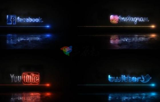 AE模板  文字Logo标志光效描边特效 A Ray Of Light Logo