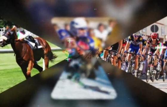 Pr模板 体育运动快节奏闪现照片幻灯片Logo片头 Action Sport