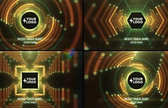 AE模板脚本 可视化音频频谱HUD 隧道音乐展示台 Audio React Tunnel Music Visualizer