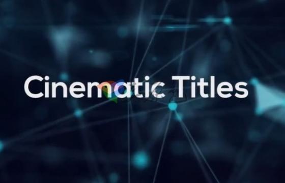 Pr模板 时尚创意文字标题字幕电影片头 Cinematic Titles